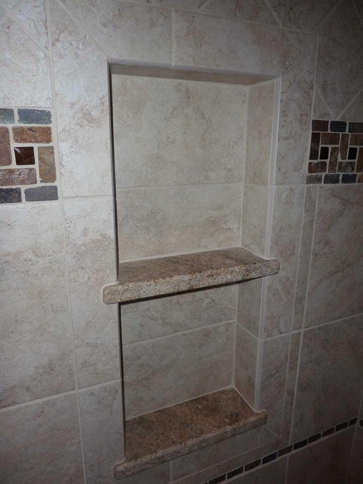 New Tile Shower Construction   Scott Herndon Homes General ...