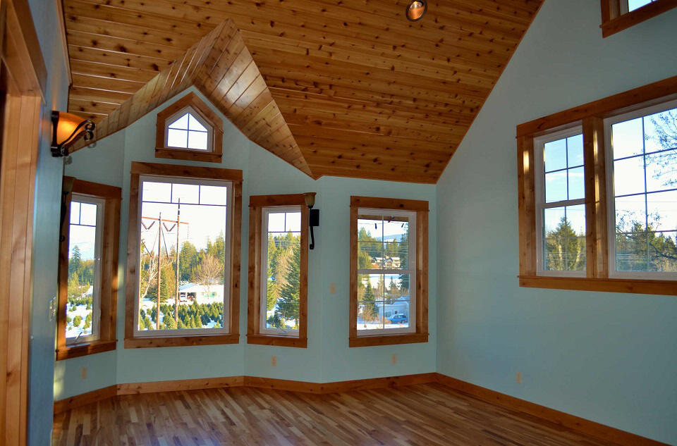 Wood Floor Installation In Sandpoint Scott Herndon Homes