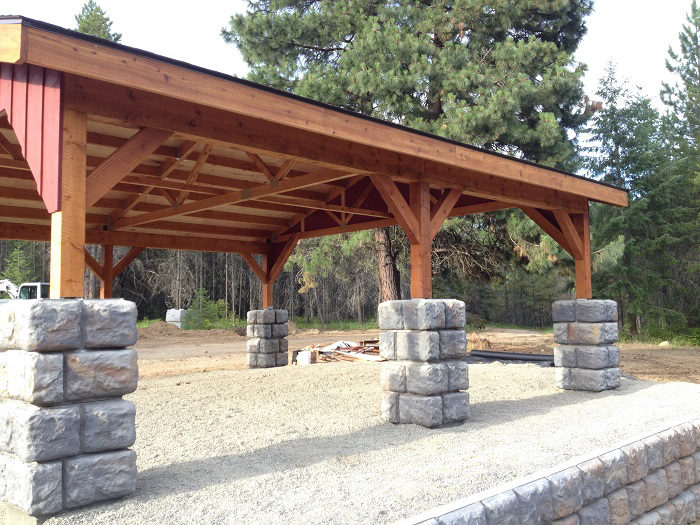 Sandpoint contractor builds post and beam carport scott herndon