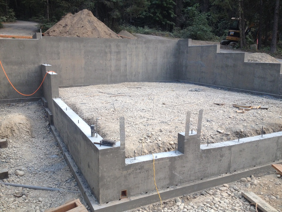 Concrete foundations basement waterproofing scott for How to build a basement foundation