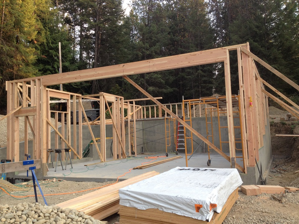 The 2nd Floor Framing On This Job Is Constructed Using Trusses A Lot Of Buildings Like We Build With Room Under Roof That Provide