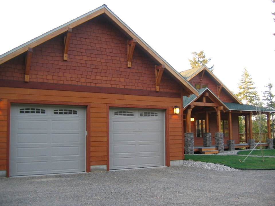 timber frame home front